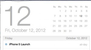 October 2012 is a possible iPhone 5 release date.