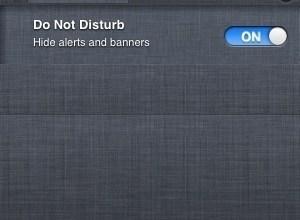 iPhone Do Not Disturb iOS 6 Notification Center Feature