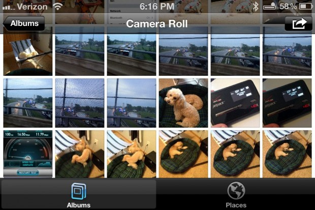 iPhone Facebook Integration Photos