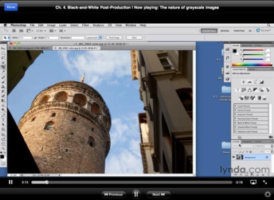 lynda.com ipad app
