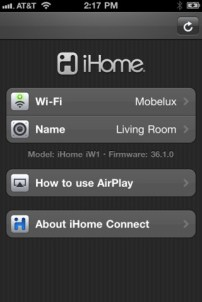 iHome connect ios app