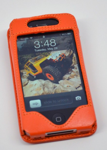 Sena WalletSlim iPhone 4S Wallet Case Review - front orange