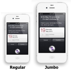 Taller and wider iPhone 5,