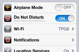 iOS 6 Do Not Disturb rumor