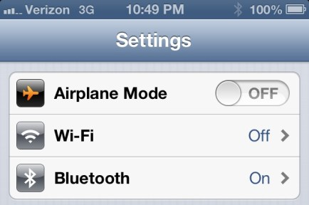 iOS 6 Hands On - Bluetooth Setting