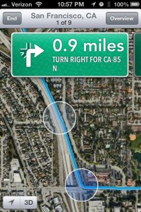 iOS 6 Hands On - Turn by Turn directions