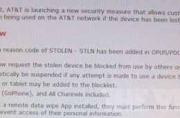 AT&T blocking system