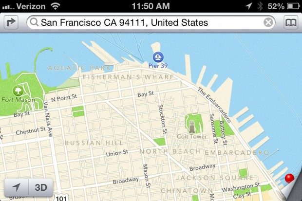 Apple Maps Neighborhood information