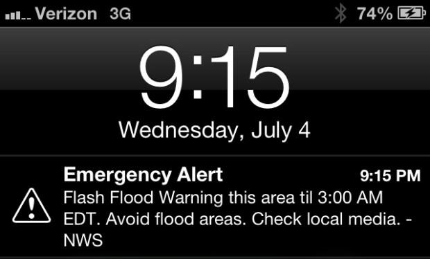 Emergency Alert iPhone iOS 6