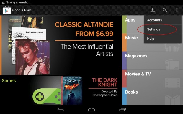 How to set PIN Google Play Purchases Step 1