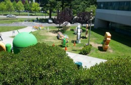 The Jelly Bean statue at Google melted.
