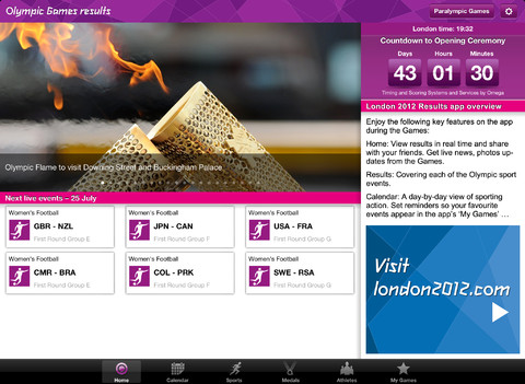 London 2012 Official App