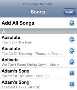 Add Songs