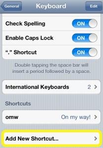 Add Shortcut