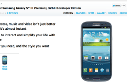The Galaxy S III Developer Edition release date is still unknown.