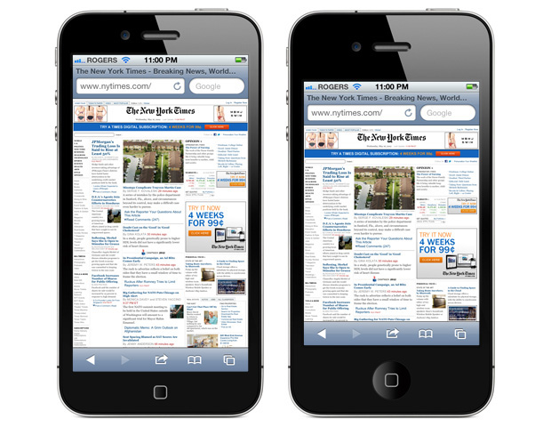 iPhone 5 display vs iPhone 4S display