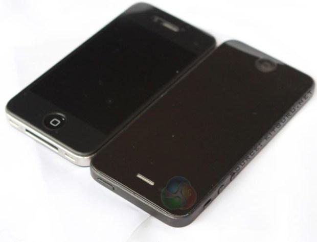 iPhone 5 vs iPhone 4s size comparison photo