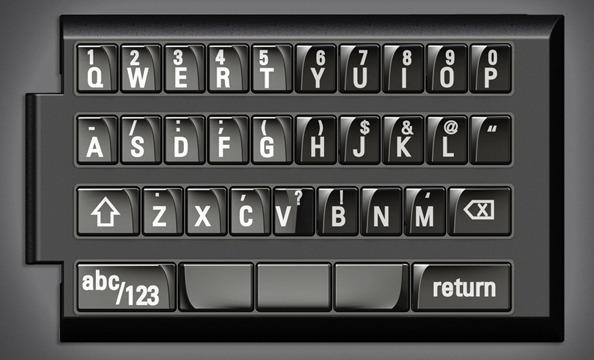 iPhone physical keyboard