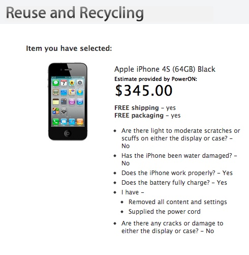 Apple iPhone Recyclting iPhone Trade In