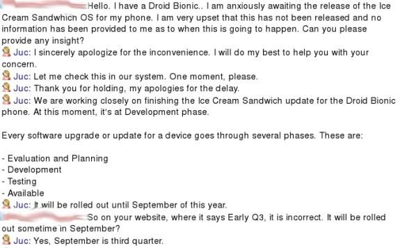 Droid Bionic ICS Update