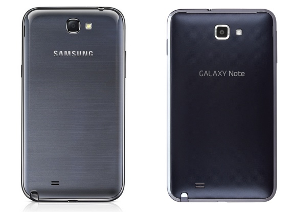Galaxy Note 2 vs Galaxy Note Design