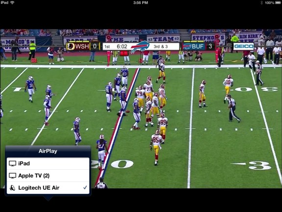 NFL Preseason Live Review iPad - AirPlay