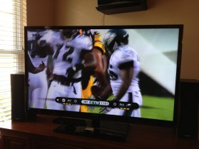 NFL Preseason Live Review iPad - on HDTV