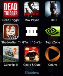 Nexus 7 Apps - Shooters