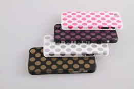 iPhone 5 cases polkadots stacked