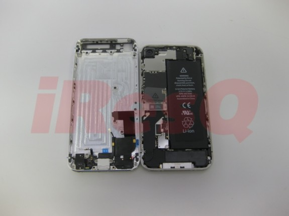 iPhone 5 parts assembled