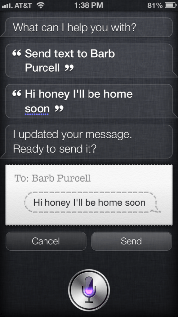 Siri on the iPhone 5