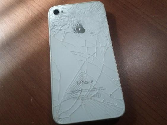 Broken iPhone back