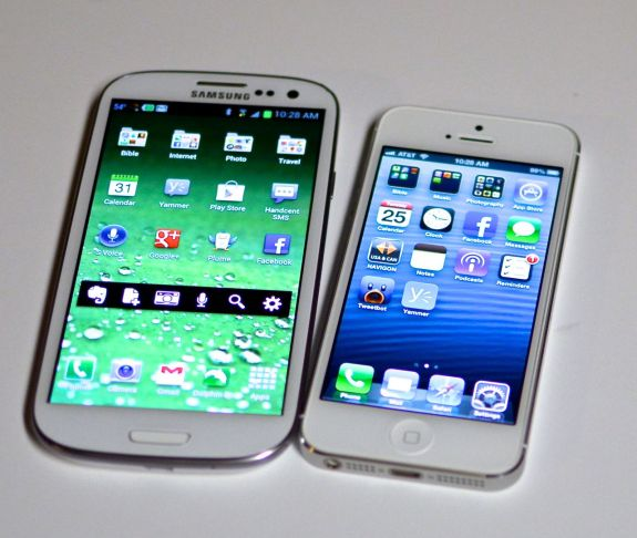 samsung galaxy s iii and apple iphone 5