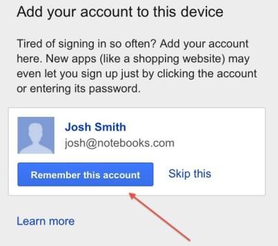 Google iPhone Account Chooser 2