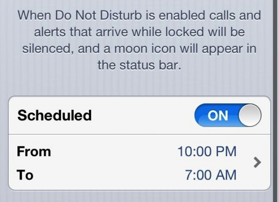 How to Use Do Not Disturb on iOS 6 - 3
