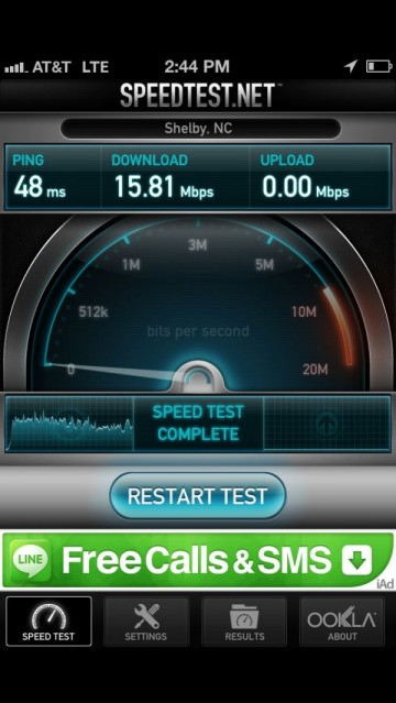 iphone 5 speed test