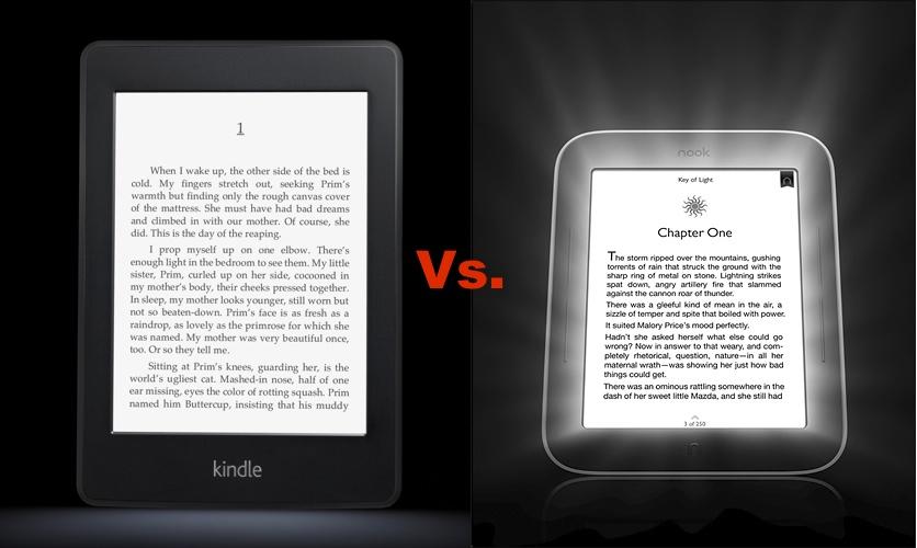 Nook E Reader Vs Kindle: Amazon Kindle Paperwhite Vs. Barnes & Noble Nook Touch