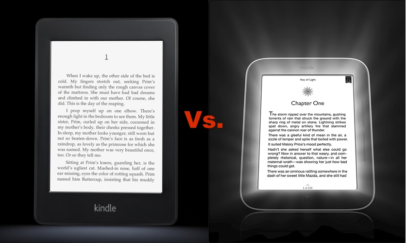 Nook Reader Vs Kindle Reader: Amazon Kindle Paperwhite Vs. Barnes & Noble Nook Touch