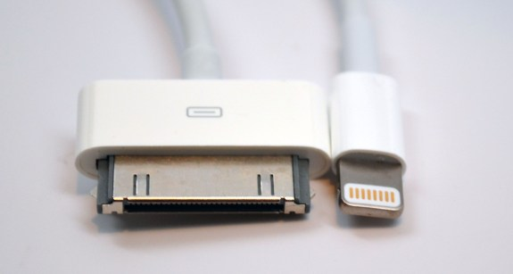 Lighting Connector vs. 30 Pin Dock Connector - head on