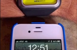 MetaWatch Strata iOS 6 SMS