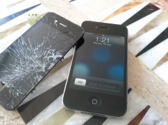 Shattered iPhone