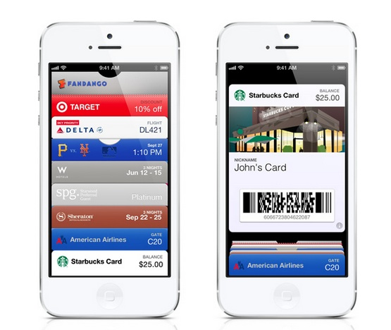 Starbucks Passbook iOS 6 iPhone 5