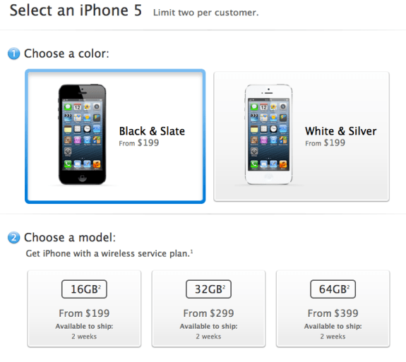 U.S. iPhone 5 Sold Out