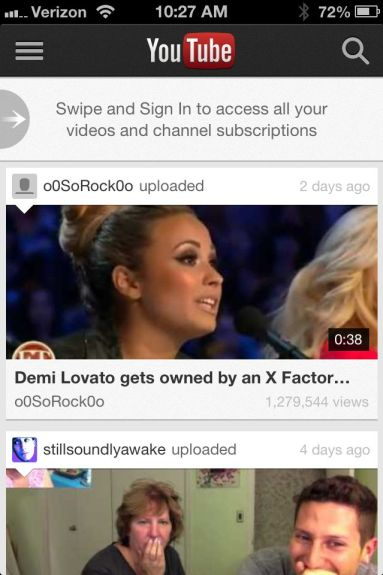 YouTube iPhone App iOS 6 iPhone 5 - 4