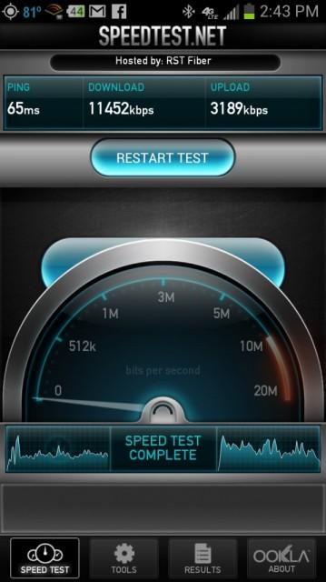 gs3 speed test