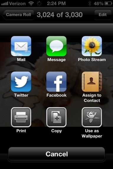 iOS 6 sharing