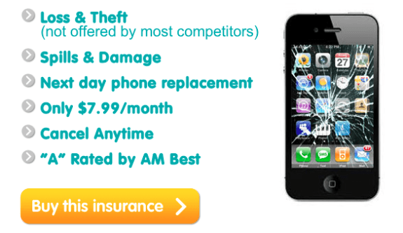 iPhone 5 insurance loss theft