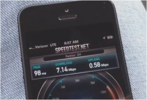 iPhone 5 speed test 4G LTE Verizon