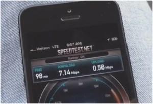 iPhone 5 speed test 4G LTE Verizon
