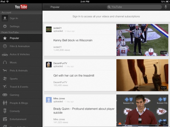 download youtube app for ipad 1